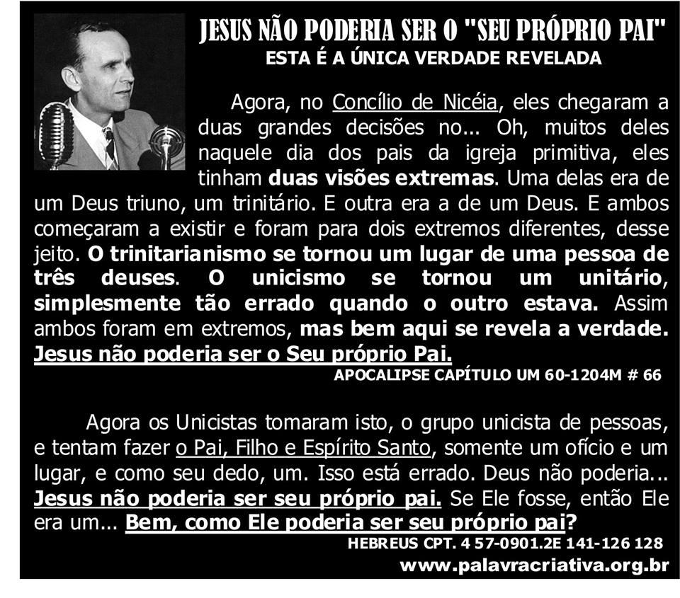 JESUS NÃO PODERIA SER SEU PROPRIO PAI 2