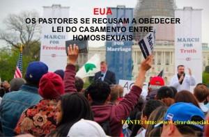 EUA - PASTORES SE RECUSAM