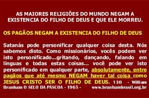 NEGAM O FILHO DE DEUS